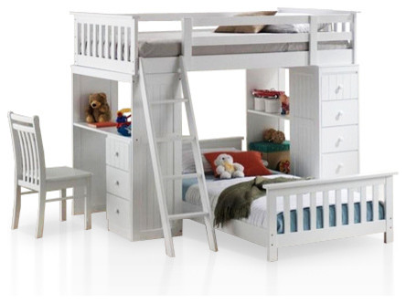 Bunk Bed Desk Combo Kids Modern with Bright Kids Space Bunk1