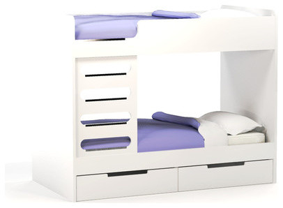 Bunk Bed Desk Combo Kids Modern with Bright Kids Space Bunk2