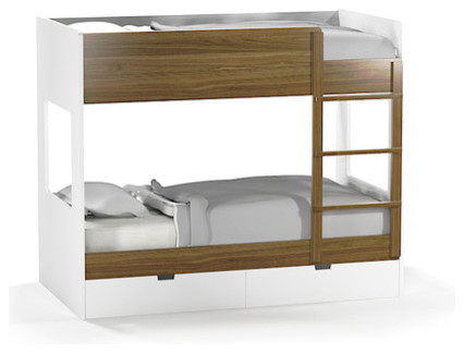 Bunk Bed Desk Combo Kids Modern with Bright Kids Space Bunk3