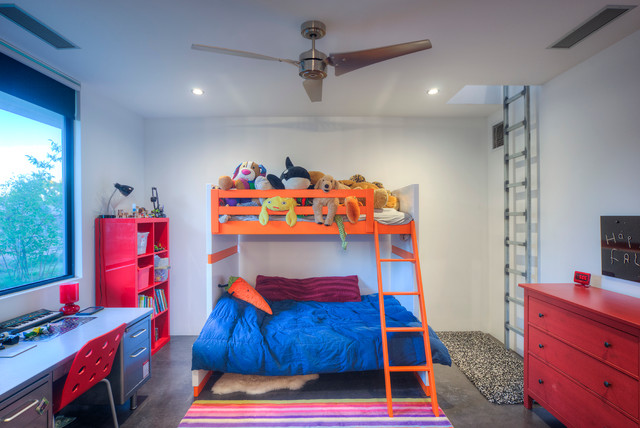 Bunk Bed with Desk Underneath Kids Contemporary with Bunk Bed Bunk Bed