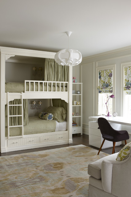 Bunk Bed with Desk Underneath Kids Transitional with Beige Bunk Bed Beige