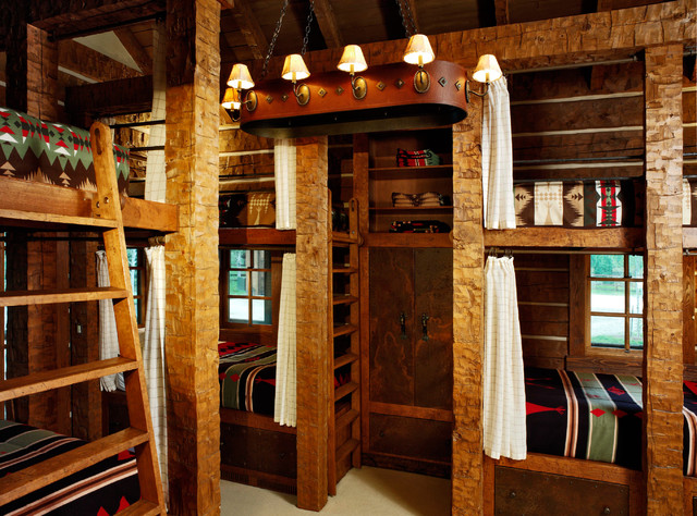 bunk beds for adults Bedroom Rustic with beige bunk bed curtains