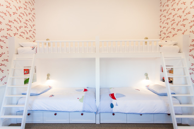 Bunk Beds for Adults Kids Beach with Bed Sheets Built In1