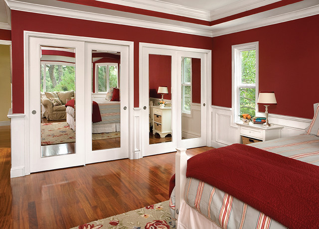Bypass Closet Doors Bedroom Traditional with Core Designer Door Entry