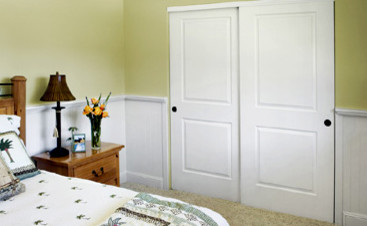Bypass Closet Doors Bedroom Traditional with Core Designer Door Entry1