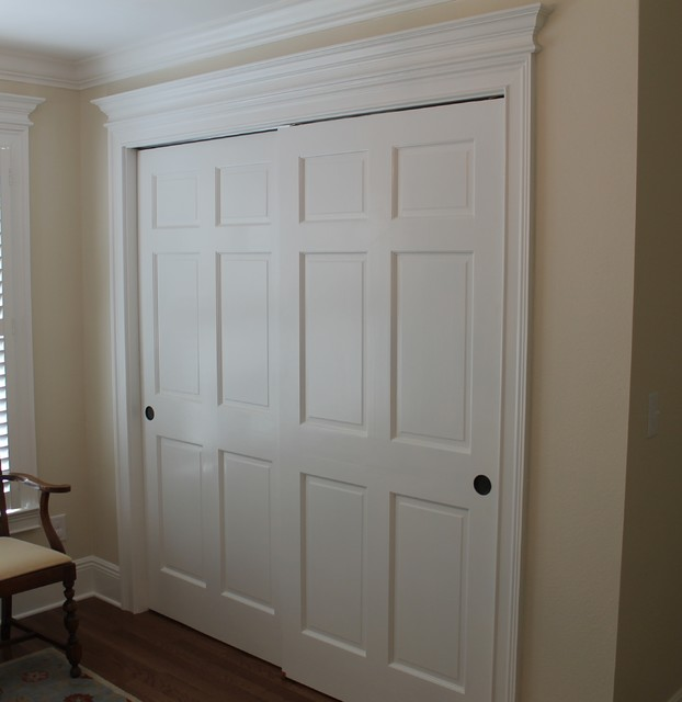 Bypass Closet Doors Closet Traditional with Closet Door Molding Millwork