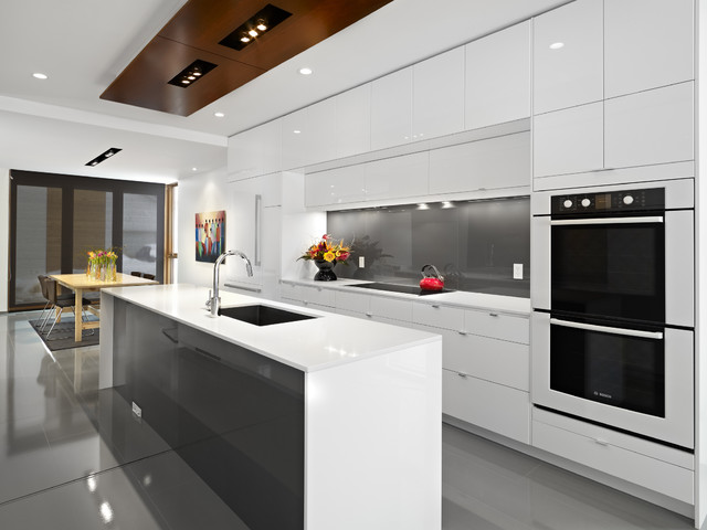 Cabinet Refacing Cost Kitchen Contemporary with Backsplash Blanco Bosch Caesarstone