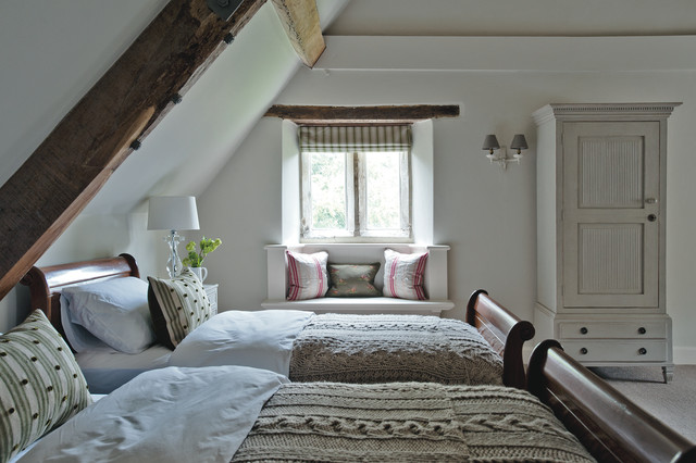 Cable Knit Blanket Bedroom Farmhouse with Country Estate Dark Wood
