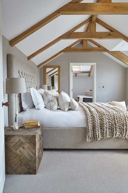 cable knit throw Bedroom Farmhouse with beams bedding beds cable