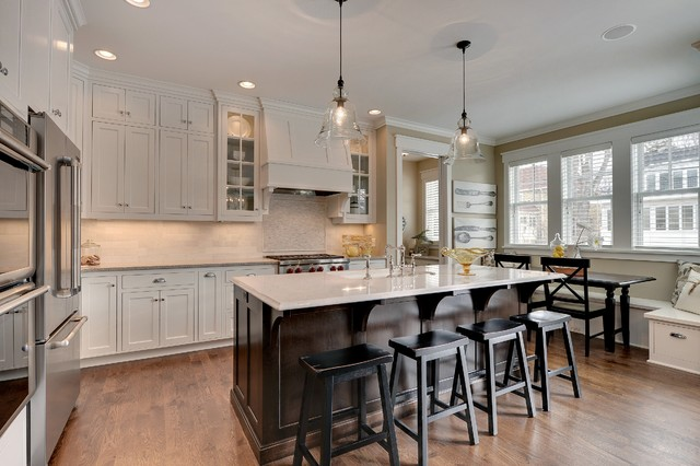 Caesarstone Colors Kitchen Traditional with Asian Inspired Stools Asian