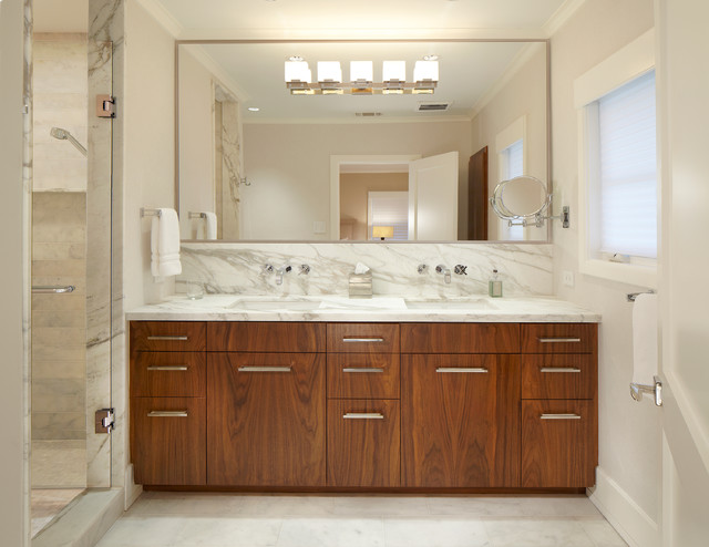 Calacatta Marble Bathroom Contemporary with Calacatta Marble Clean Lines