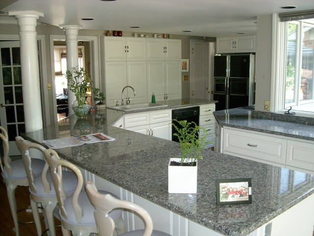 Caledonia Granite Kitchen Traditional with Contemporary Custom Kitchen New