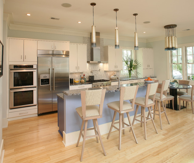 Cali Bamboo Flooring Kitchen Transitional with Bamboo Flooring Beige Bar