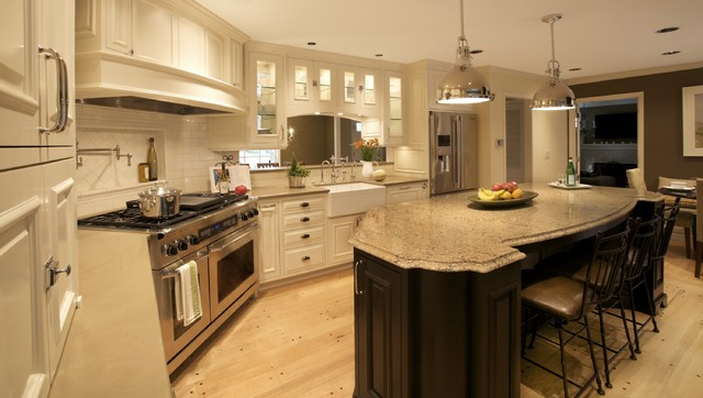 Cambria Countertops Kitchen Traditional with Apron Sink Breakfast Bar