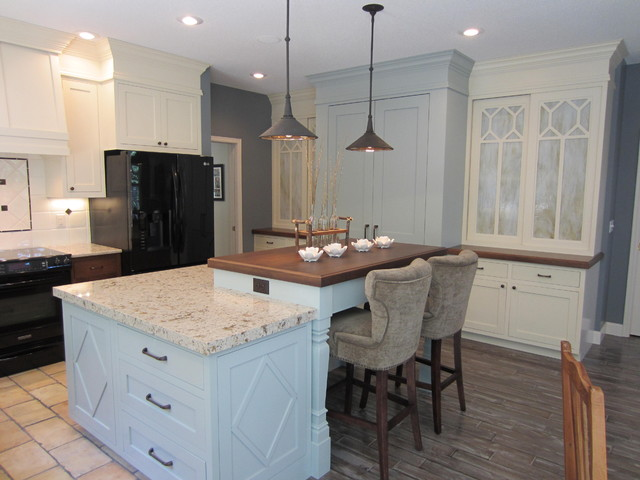Cambria Countertops Kitchen Traditional with Black Appliances Cornice Counter