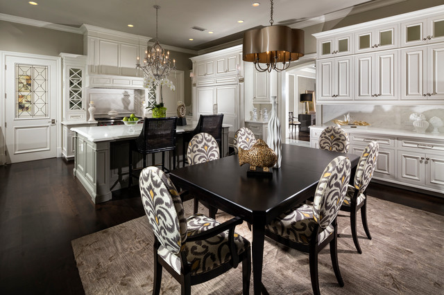 Canadel Furniture Dining Room Mediterranean with Black Bar Stools Chandelier