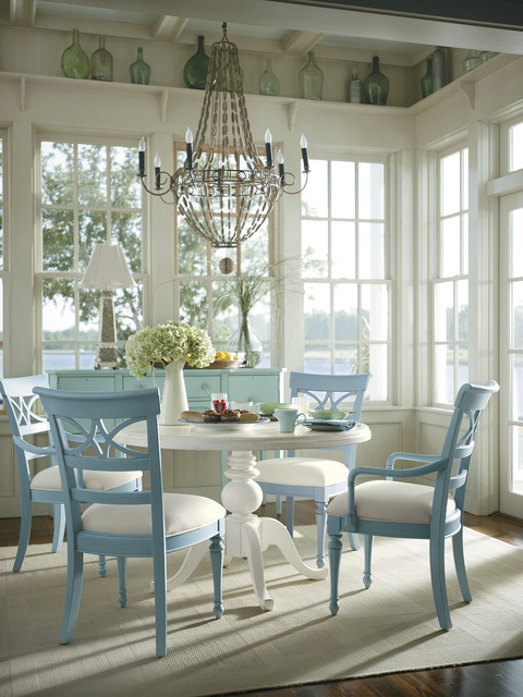 canadel furniture Dining Room Tropical with beach furniture beaded chandelier