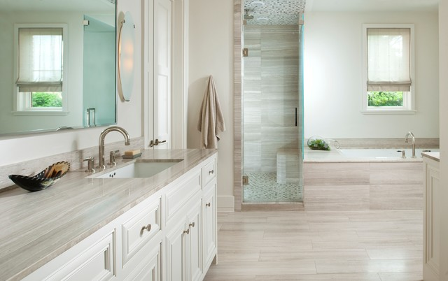 Cancos Tile Bathroom Traditional with Pebble Tile Stone Stone