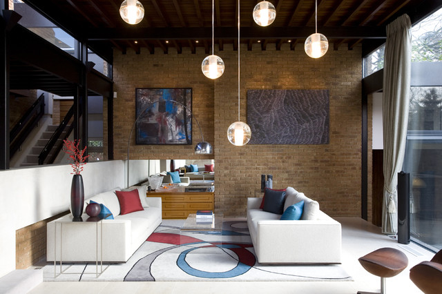candelabra led bulb Living Room Modern with abstract rug Arco arco