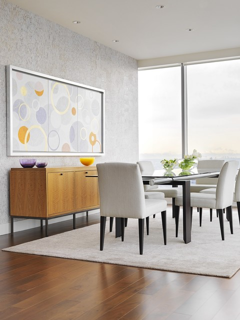 Candice Olson Dining Room Contemporary with Floor to Ceiling Window