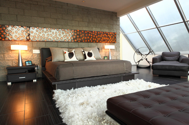 Cantoni Furniture Bedroom Contemporary with Artwork Bed Brown C