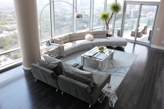 Cantoni Furniture Living Room Contemporary with Arc Lamp Area Rug