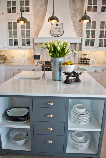 Canyon Creek Cabinets Kitchen Beach with All White Bar Sink