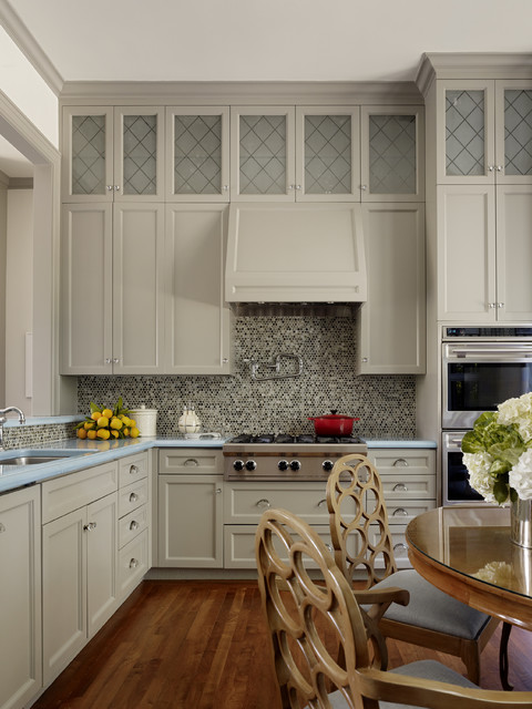 Canyon Creek Cabinets Kitchen Contemporary with Cooktop Double Oven Frosted