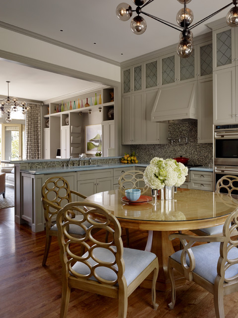 Canyon Creek Cabinets Kitchen Contemporary with Double Oven Frosted Glass