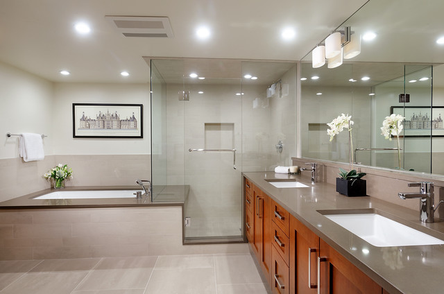 Capco Tile Bathroom Contemporary with Artwork Aspen Bathroom Corner