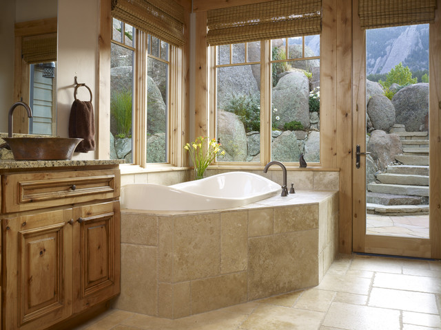 Capco Tile Bathroom Traditional with Bath Built in Tub Cabin
