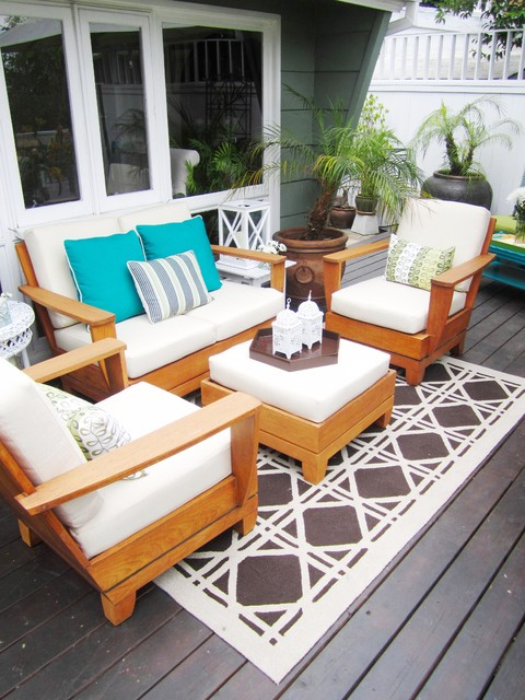 Caracole Furniture Deck Eclectic with Container Plants Deck Decorative