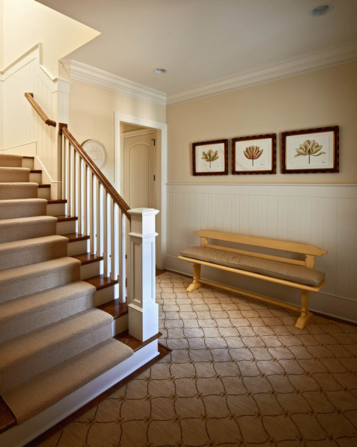 carpet runner for stairs Entry Traditional with beige carpet runner beige