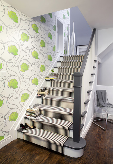 Carpet Runner for Stairs Staircase Contemporary with Accent Wall Baseboards Carpet
