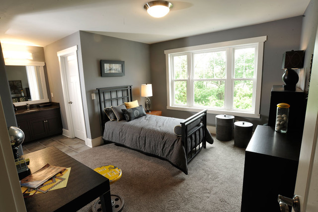 Carpet Weavers Bedroom Contemporary with Baseboards Bed Pillows Ceiling