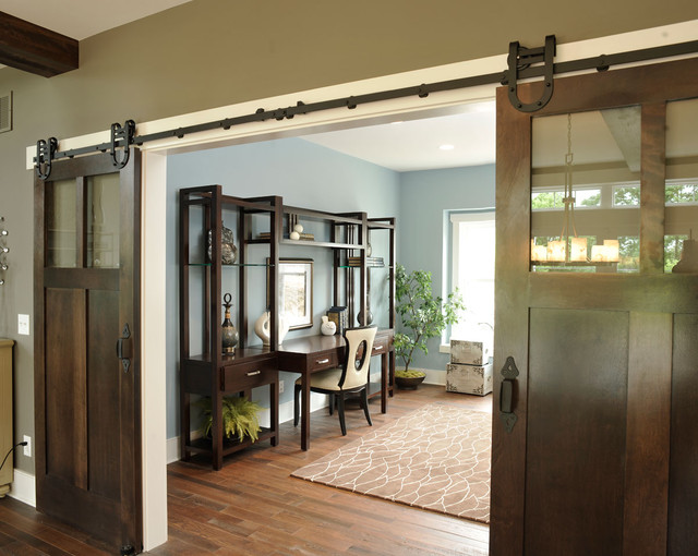 Carpet Weavers Home Office Traditional with Area Rug Barn Doors