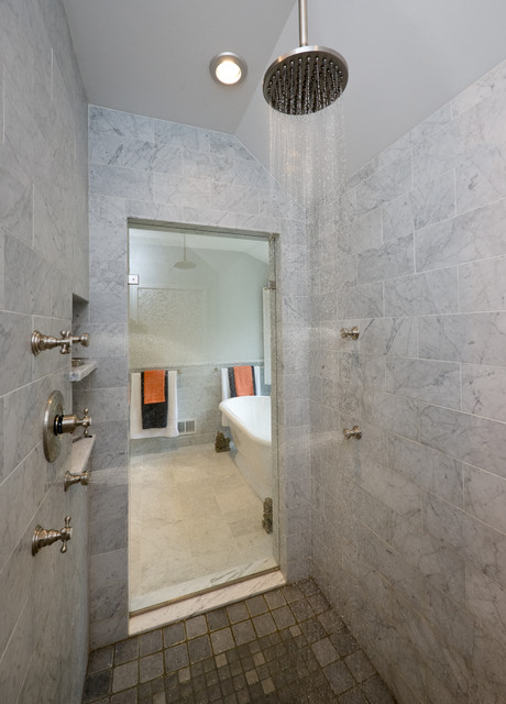 Carrara Marble Tile Bathroom Traditional with Carrara Marble Carrera Marble