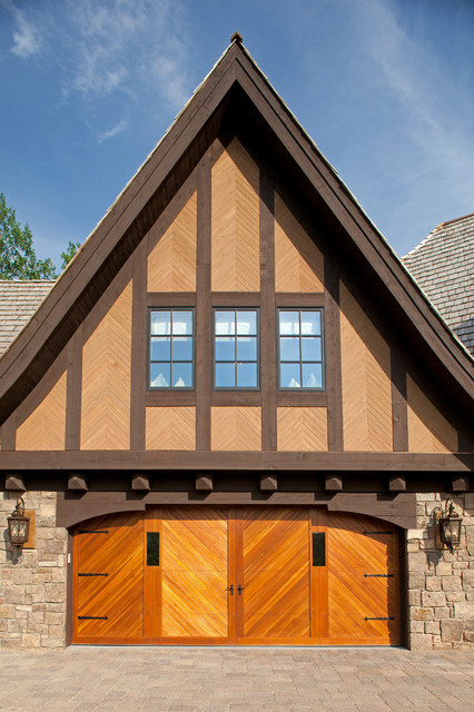 Carriage Garage Doors Garage and Shed Traditional with Arched Garage Door Brick