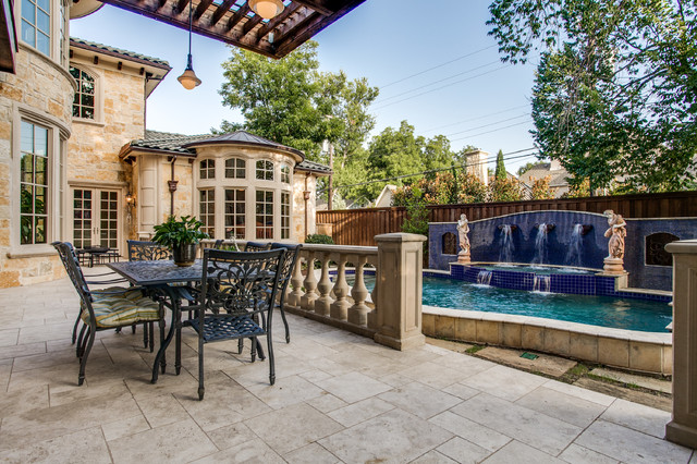 Cb2 Locations Patio Mediterranean with Backyard Balusters Blue Mosaic