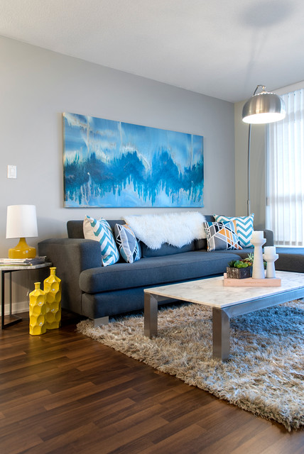 Cb2 Rugs Living Room Contemporary with Area Rug Blue Artwork