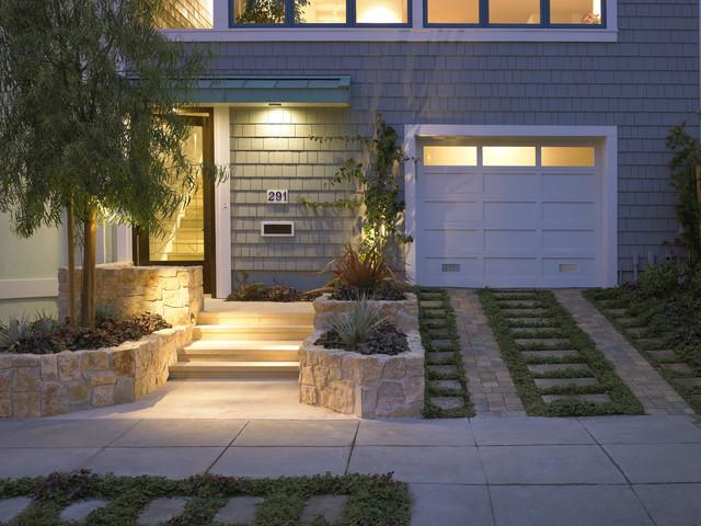 Cedar Shake Siding Exterior Traditional with Ceiling Lighting Entrance Entry