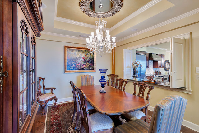 Ceiling Medallion Dining Room Traditional with Beige Wall Ceiling Medallion