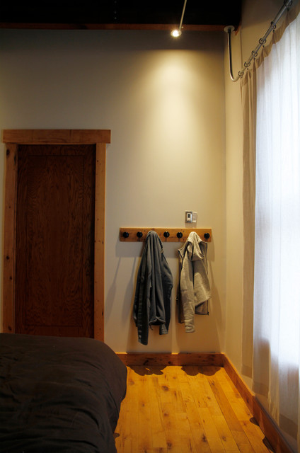 Ceiling Mounted Curtain Rods Bedroom Industrial with Categorybedroomstyleindustriallocationmontreal