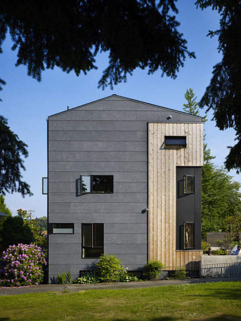 Cement Board Siding Exterior Contemporary with Casement Windows Cedar Concrete
