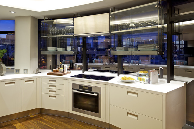 Ceramic Cooktop Kitchen Contemporary with Ceramic Cooktop City View