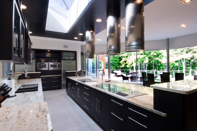 Ceramic Cooktop Kitchen Modern with Black Cabinets Ceramic Cooktop