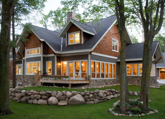 Certainteed Landmark Shingles Exterior Traditional with Deck Dormer Window Landscaping