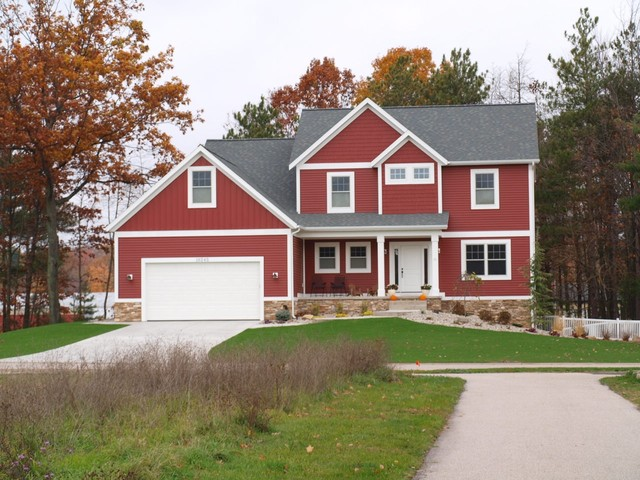 Certainteed Vinyl Siding Exterior Traditional with Container Plants Driveway Entrance