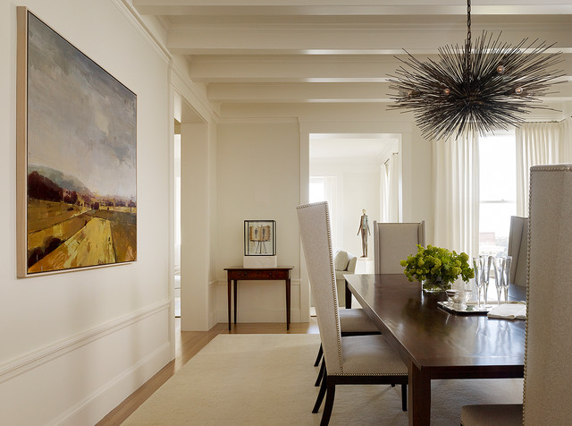 Chair Rail Height Dining Room Contemporary with Art Ceiling Light Molding