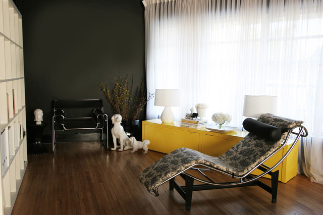 Chaise Lounge Ikea Living Room Contemporary with Accent Wall Black And2